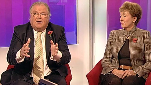 Digby Jones and Andrea Leadsom