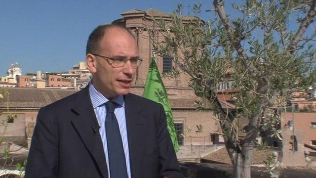 Enrico Letta the Deputy Leader of the main opposition party