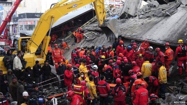 Rescue workers in Van