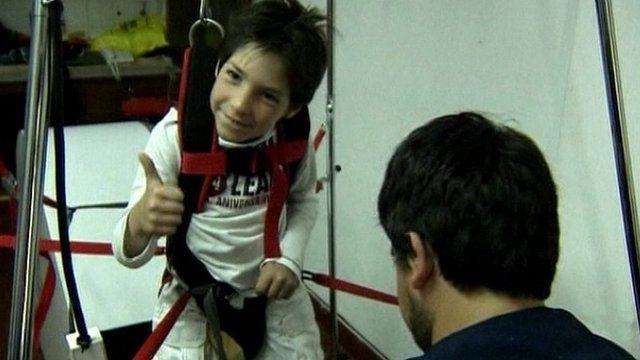 Ivo in rehabilitation machine