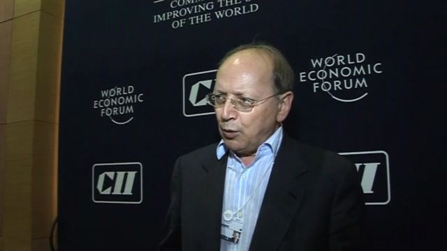 Ben Verwaayen, chief executive of Alcatel-Lucent, at the India Economic Summit in Mumbai.