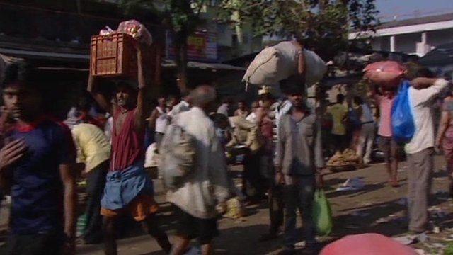 Food market in Mumbai