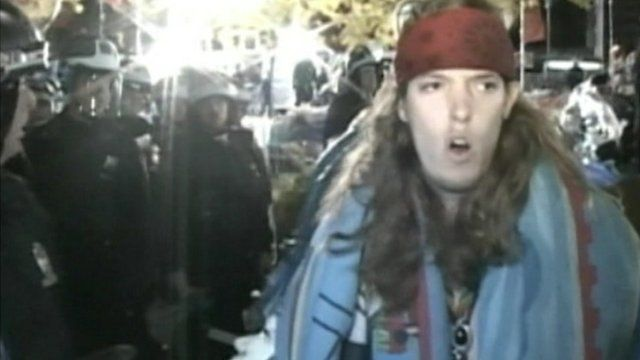 An Occupy Wall Street protester