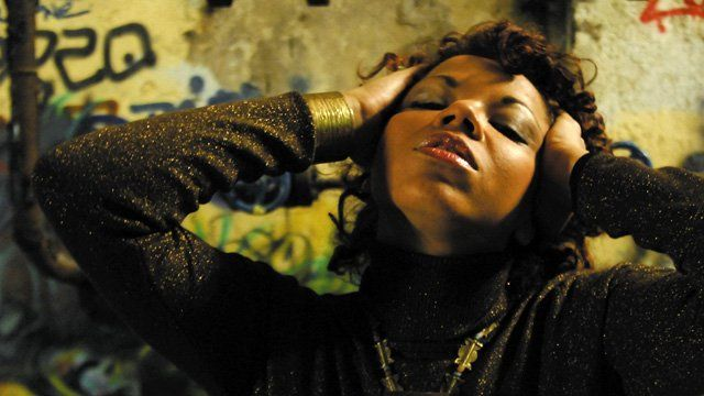 Mina Agossi - Photo from the cover of her album Simple Things. Used by kind permission of Candid Records, UK
