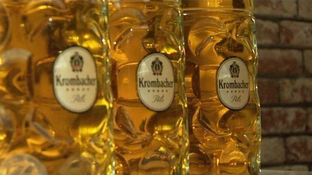 Traditional German beer glasses
