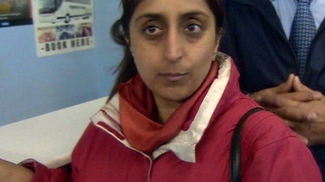 Airline passenger at travel agency