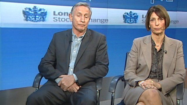 Steve Ridgway, Virgin Atlantic CEO, and Carolyn McCall, Easyjet CEO