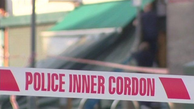 Police cordon in north-west London