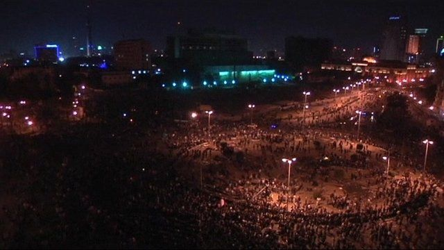 Tahrir square protesters