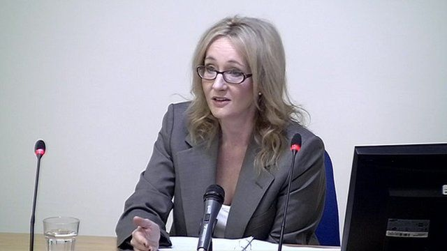 JK Rowling at the Media Ethics Enquiry