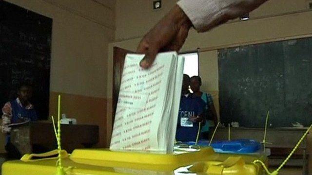 Ballot box in Congo