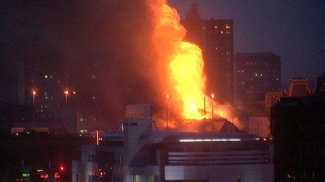 Fire in Glasgow city centre.