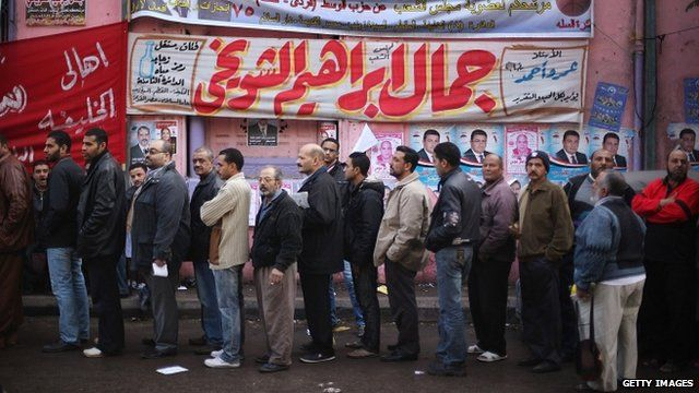 Voters in Cairo