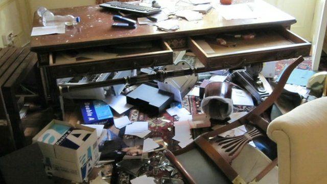 Destruction in UK embassy