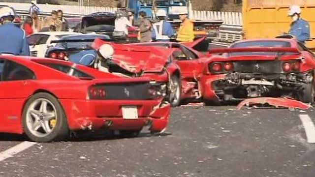 Expensive Sports Cars Have A Costly Crash In Japan CBBC Newsround - Sports cars japan