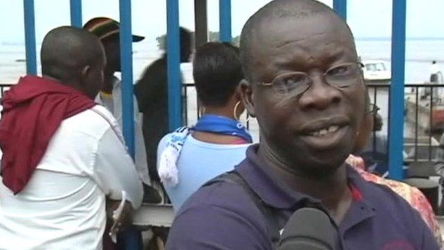 People fleeing Kinshasa