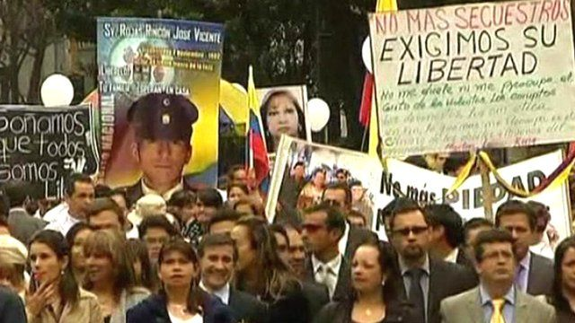 Rally against Farc in Colombia