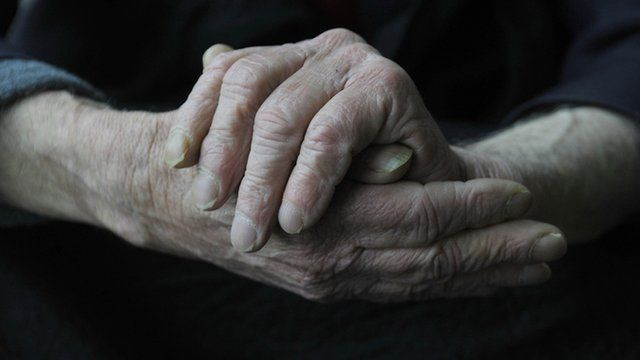Image of an old person's hands