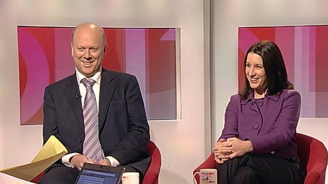 Chris Grayling and Rachel Reeves