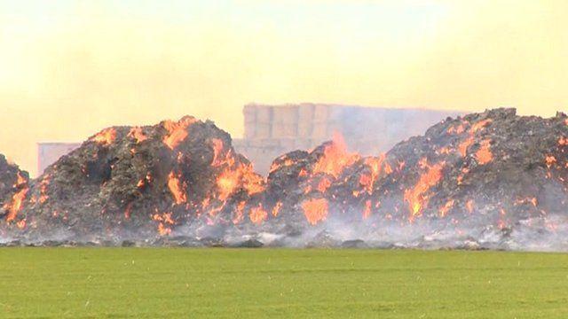 Cambridgeshire haystack fires