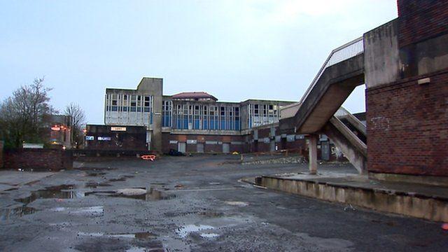 Derelict buildings in Linwood