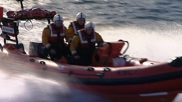 Lifeboat and crew