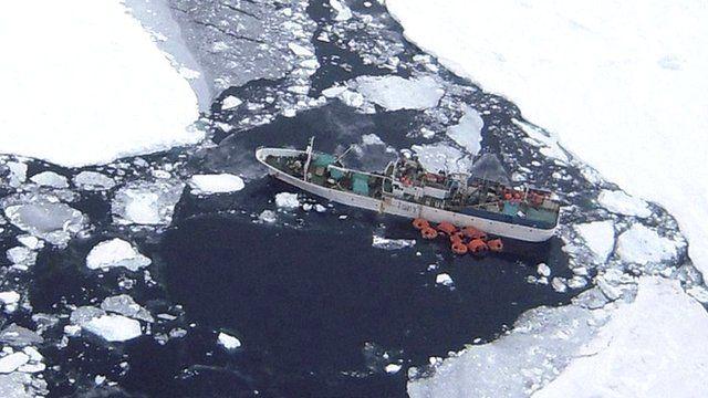Sparta in the Ross Sea near Antarctica