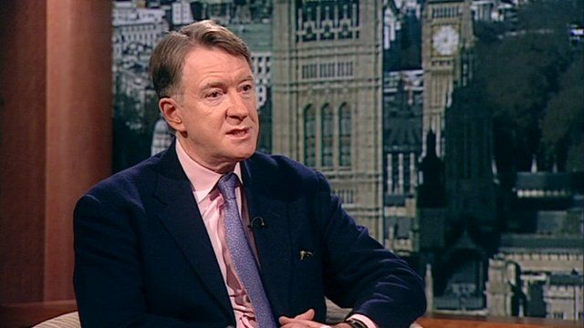 Peter Mandelson on The Andrew Marr show.