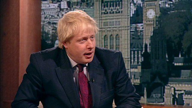 The Mayor of London Boris Johnson