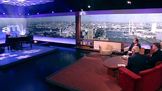 Annie Lennox performing on The Andrew Marr Show