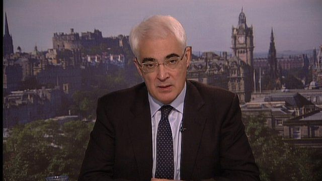 The former Chancellor, Alistair Darling