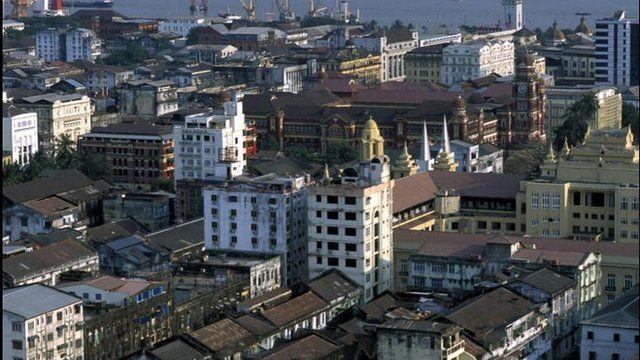 Rangoon skyline