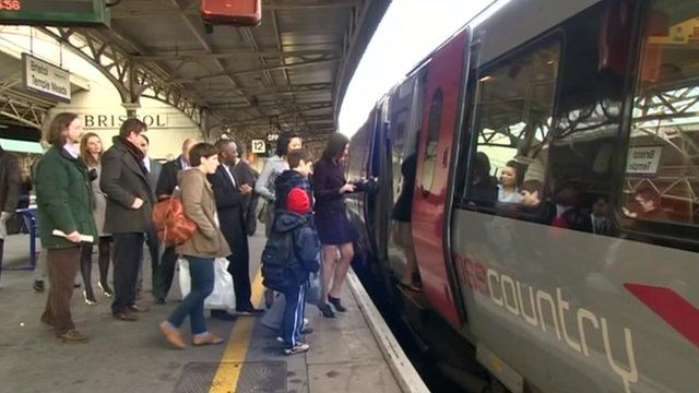 People getting on train