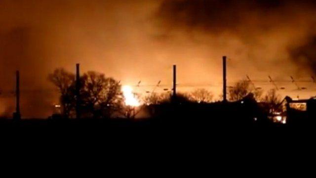 Scene of the blaze