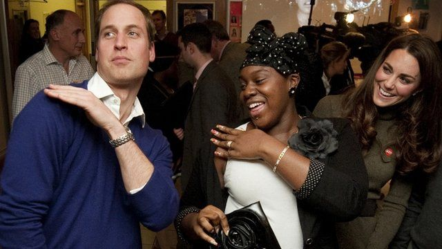 Prince William dancing at Centrepoint