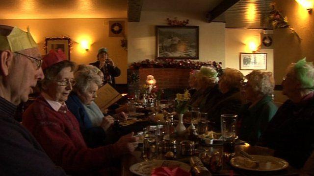 Age UK lunch club in Dalston in Cumbria