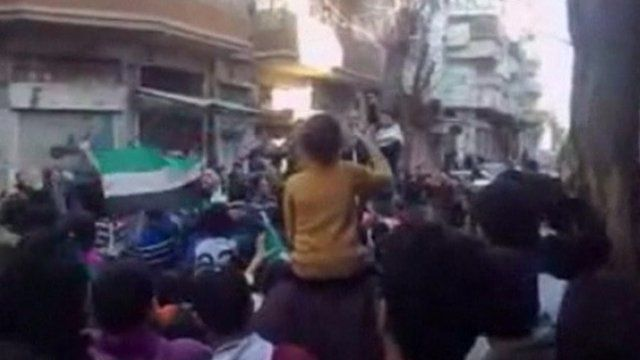 Protest in Homs