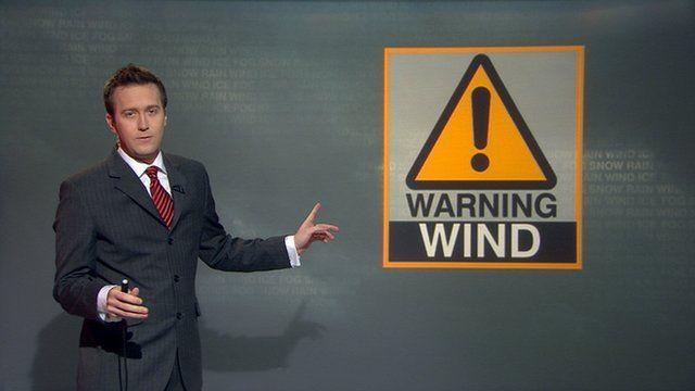 BBC Scotland weather presenter Christopher Blanchett