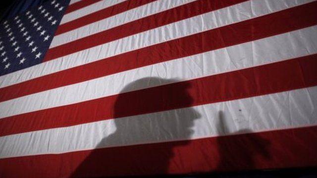 Shadow on US flag