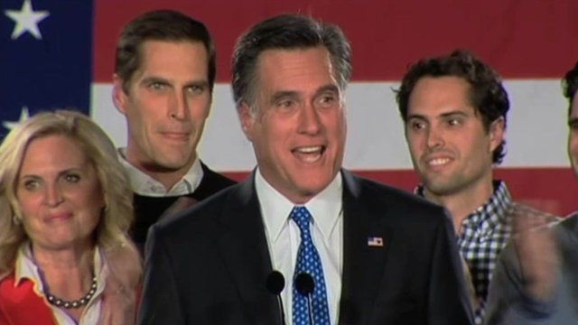 Mitt Romney and supporters