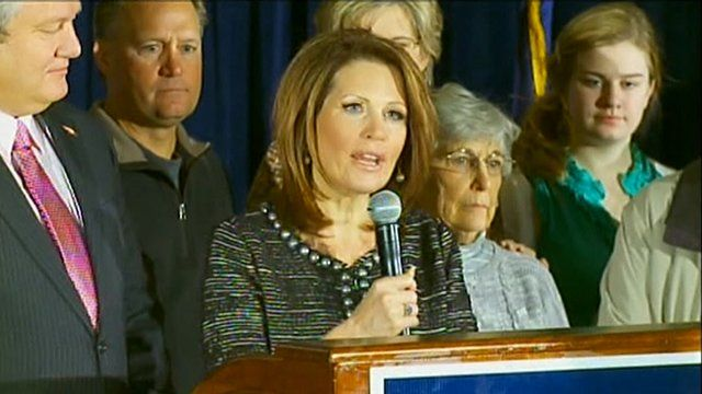 Michele Bachmann holds press conference.
