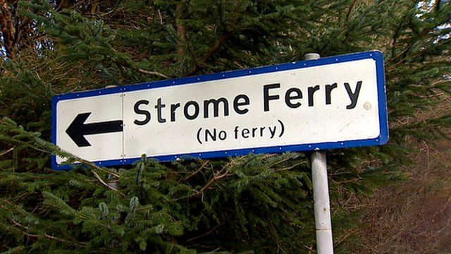 Strome ferry sign