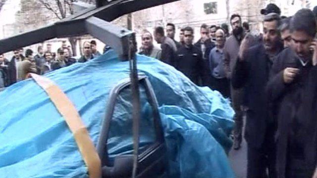 Scene of blast in Tehran