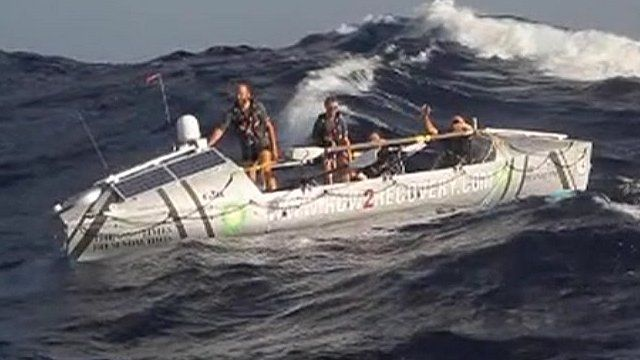 Rowers in the Atlantic