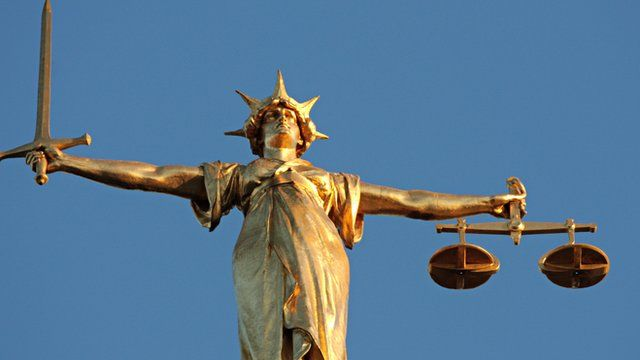 Lady Justice statue outside the Old Bailey