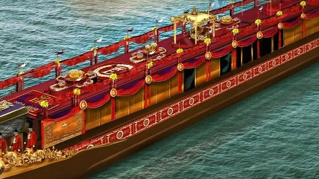 Artist's impression of the royal barge