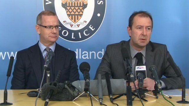Detective Chief Superintendent Steve Jupp head of West Midlands Police CID, Martin Lindop from West Midlands Crown Prosecution Service