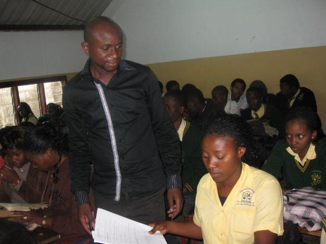 Roziuos Siatwambo in a class at the Great North Road Academy