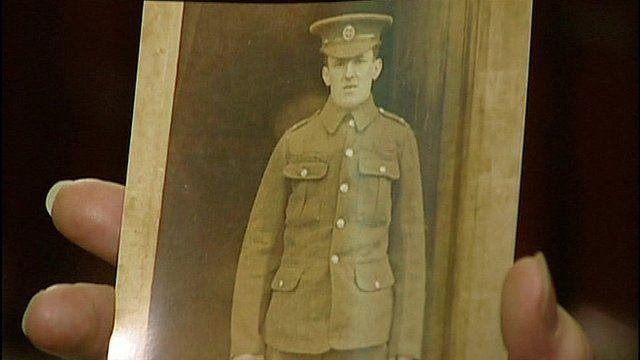 A photo of a World War I soldier