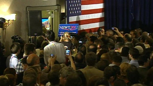 Supporters wait for Newt Gingrich to appear in South Carolina.